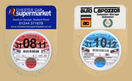 Shield Tax Disc Holder